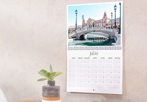 Calendario de pared A2 personalizado con foto