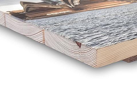 Impresión de fotos en madera