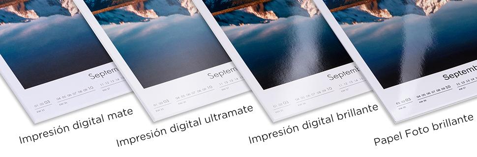 Todos los papeles fotográficos para imprimir tu calendario personalizado