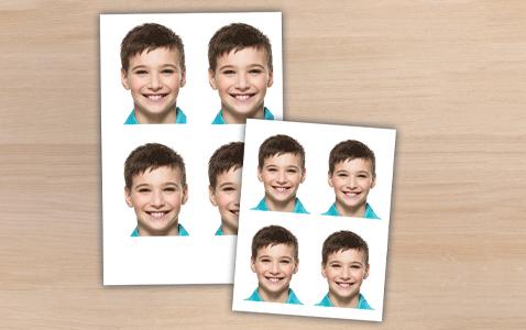 Set de fotos de varios tamaños, fotomatón