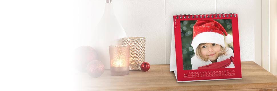 Encabezado de calendarios de mesa o escritorio personalizados con foto CEWE
