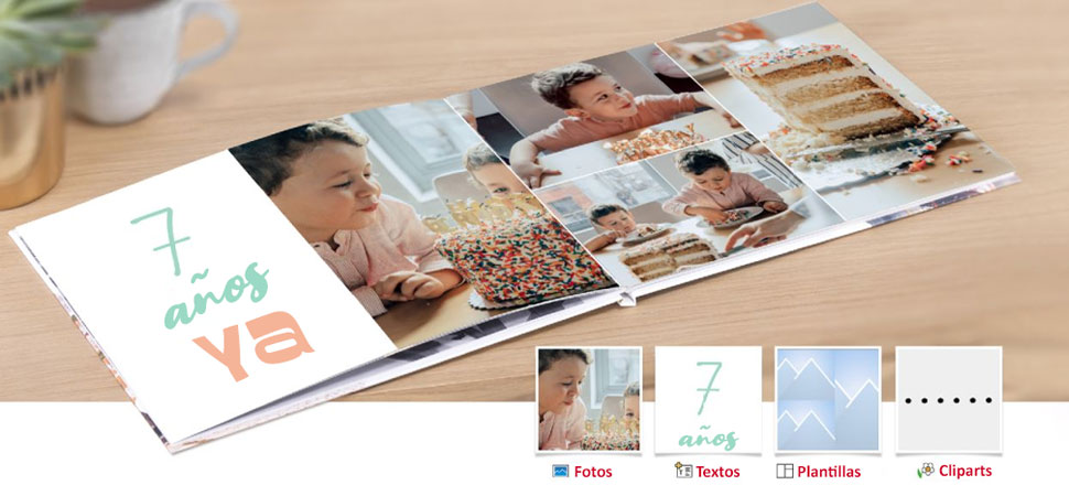Todas las posibilidades para crear tu Álbum de fotos CEWE, tipo de papel, tapa, etc.