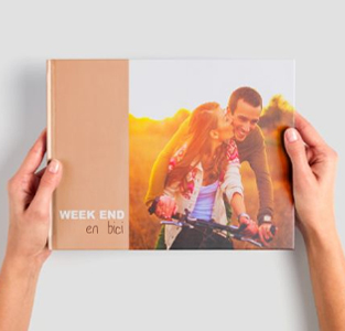 Álbum de fotos digital panorámico o fotolibro